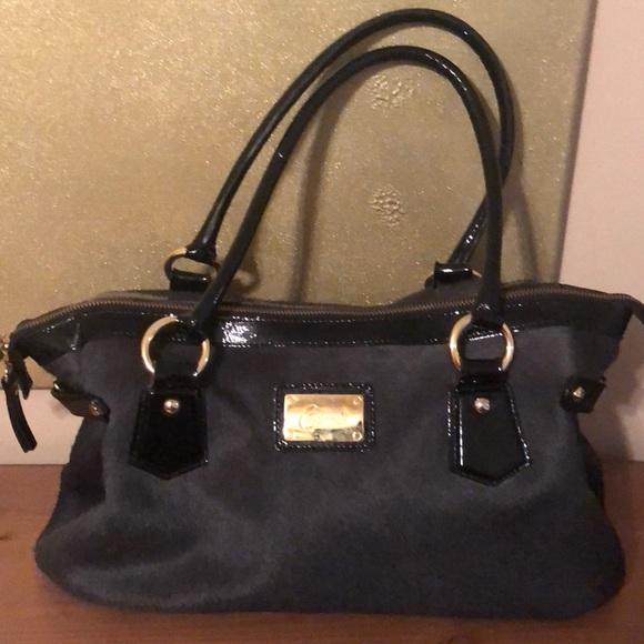 edb517a60a4b Cavalcanti Calf Hair and Patent Leather Bag